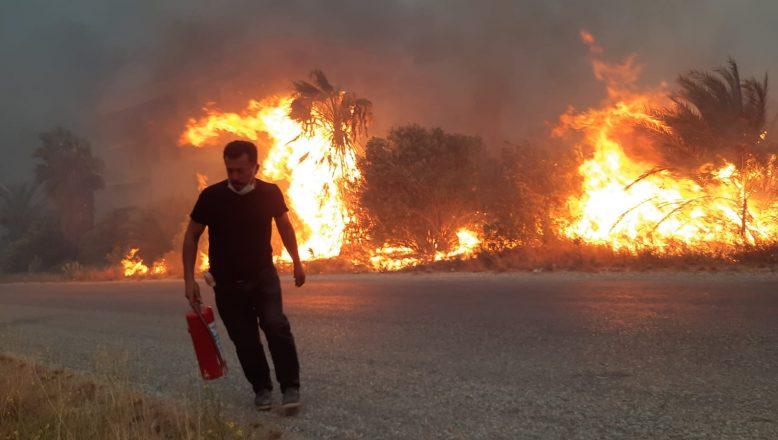 Türkiye alev alev yanıyor, 5 şehirde daha çıkan yangınlar devam ediyor