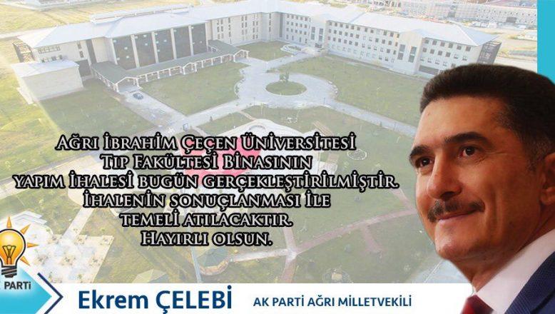 Milletvekili Ekrem Çelebi: AİÇÜ  Tıp Fakültesi Bina İhalesinin Yapıldığını Müjdeli