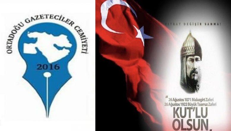 OGC Genel Başkanı Aydın'dan Malazgirt Zaferi Mesajı