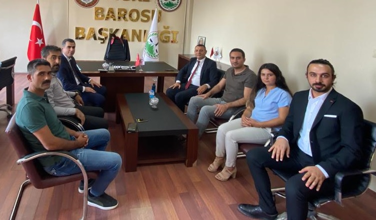 Ağrı Cumhuriyet Başsavcısı Mehdi CAN'dan Ağrı Barosuna Ziyaret