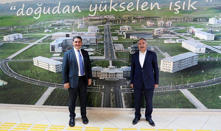 AİÇÜ Rektörü KARABULUT ile Milletvekili ÇELEBİ, Tıp Fakültesi Binası İnşaat Alanını İnceledi