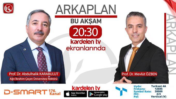 Rektör Karabulut, Bu Akşam Kardelen TV Canlı Yayında