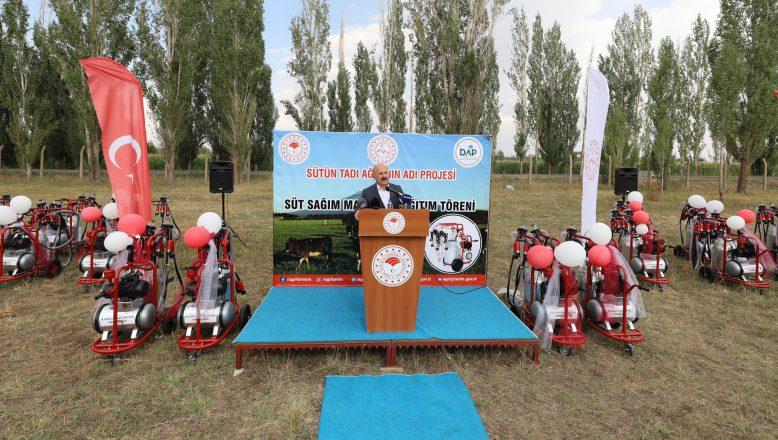 """""""Sütün Tadı Ağrı'nın Adı"""" Projesi Kapsamında Çiftçilerimize Süt Sağım Ünitesi Dağıtıldı"""