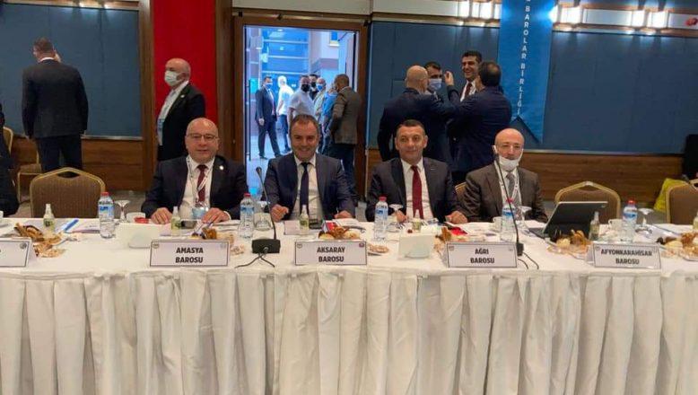 Ağrı Baro Başkanı Aydın, 43. Baro Başkanları Toplantısına Katıldı