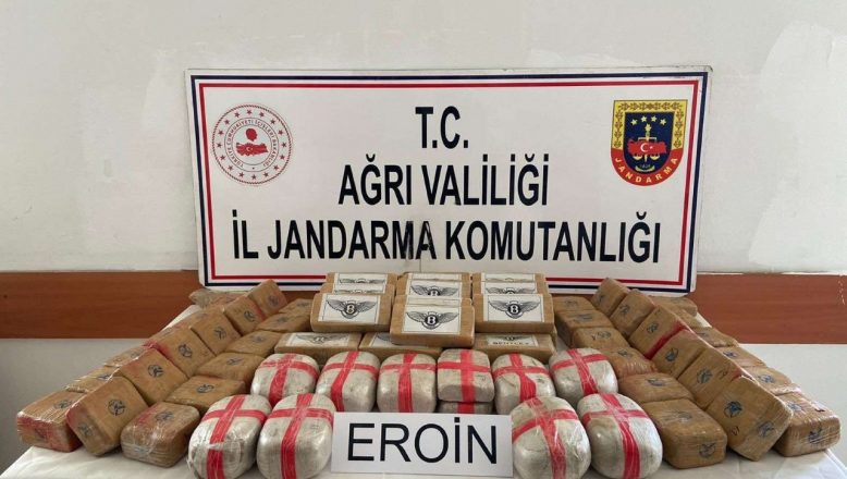 Ağrı Doğubayazıt'ta 50 Kilogram Eroin Ele Geçirildi
