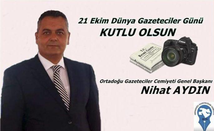 OGC Başkanı Aydın: 21 Ekim Dünya Gazeteciler Günü Kutlu Olsun
