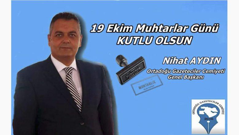 OGC Genel Başkanı Aydın'dan Muhtarlar Günü Kutlama Mesajı